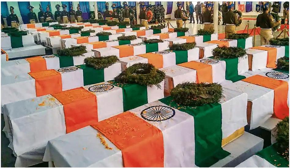 Aftermath of terrorist attack