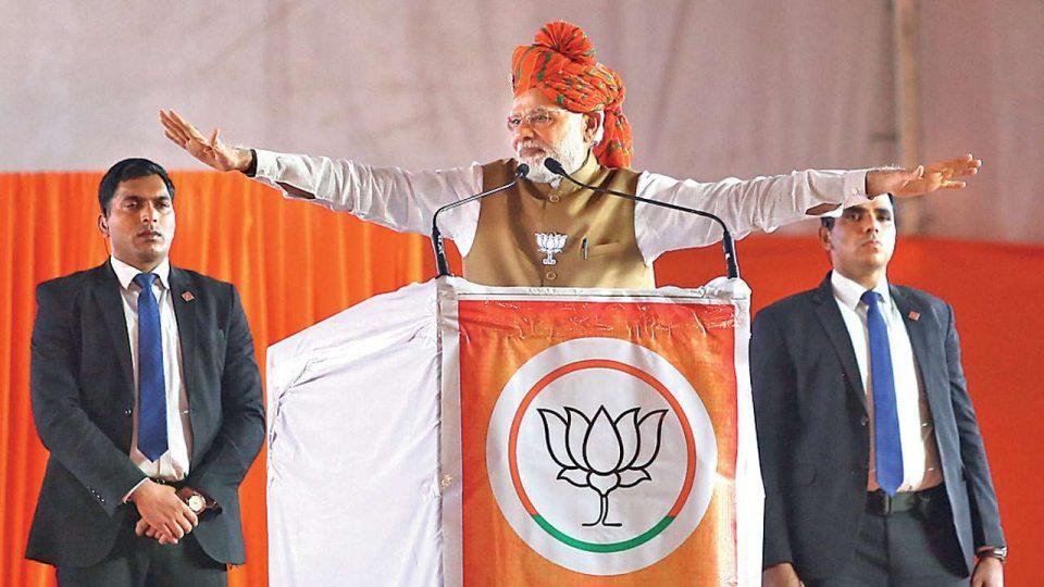 Modi begins his campaign in Rajasthan