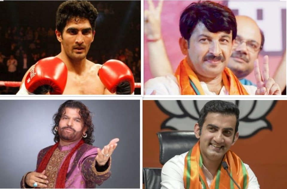 loksabha election Delhi cricketer boxer actor contesting election