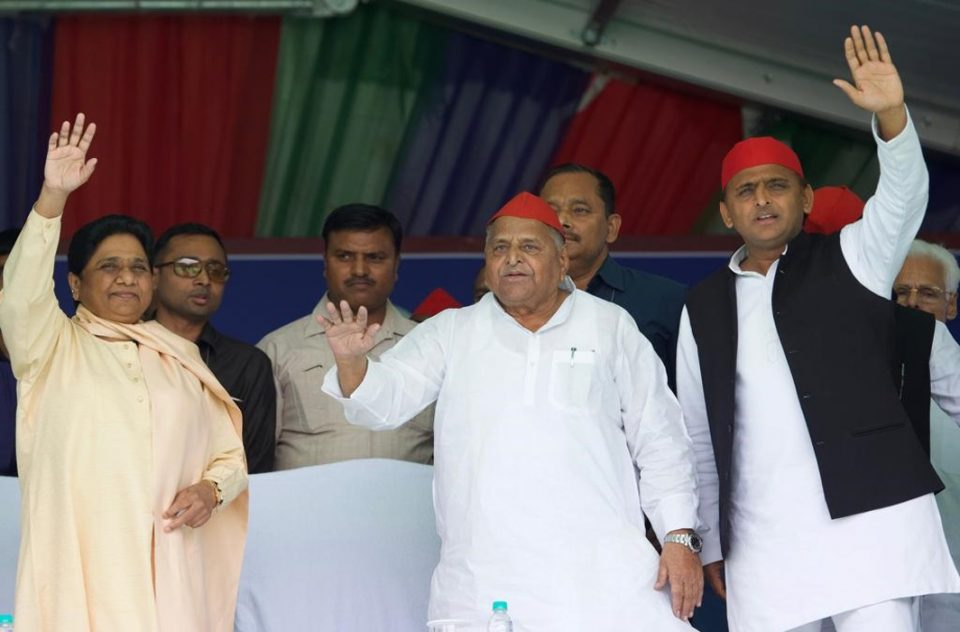 loksabha election mulayam and mayawati share stage mainpuri rally