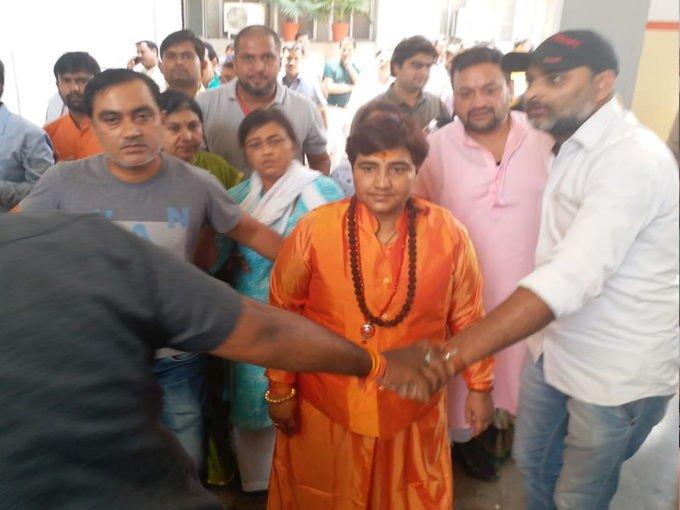 lok sabha election sadhvi pragya singh thakur may against congress leader digvijaya singh from bhopal