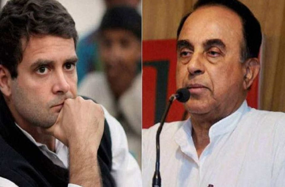 mha issues notice rahul gandhi over citizenship status on subrmanaina swamy complaint