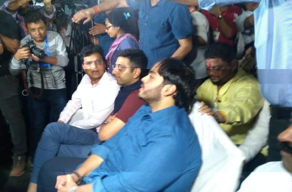 mumbai anant ambani spotted at pm modi rally