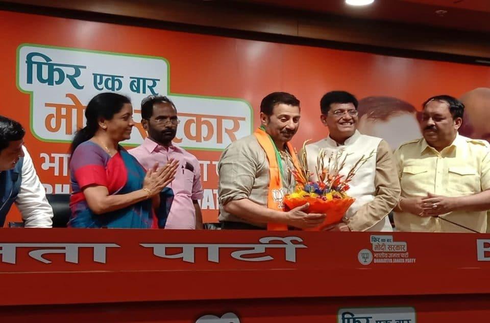 Sunny Deol join BJP in presence of Piyush Goyal and Nirmala Sitharaman