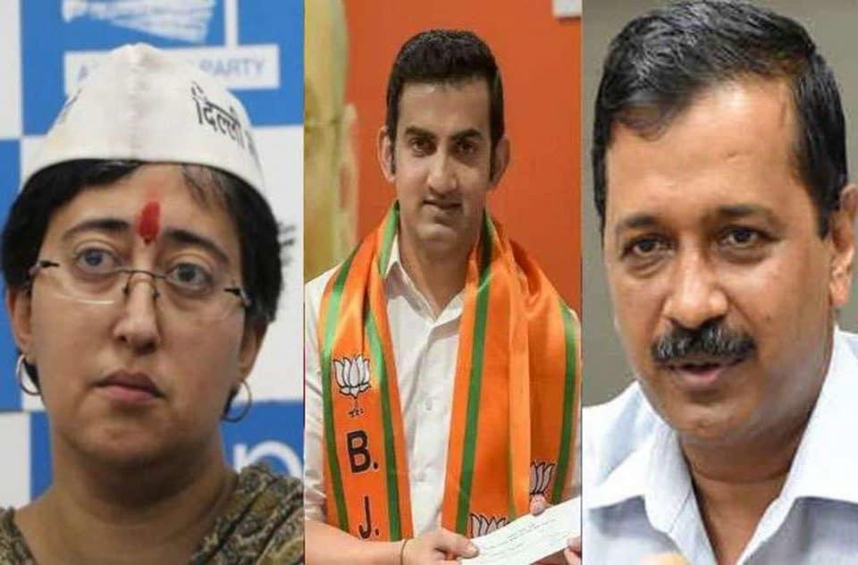 lok sabha election gautam gambhir challenge to arvind kejriwal over obscene pamphlets issue